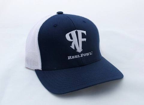ReelFowl Flex Fit Hat - Blue/White Trucker