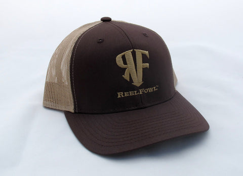ReelFowl Snap Back Hat - Brown/Tan
