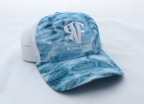 ReelFowl Snap Back Hat - Blue Aqua Camo