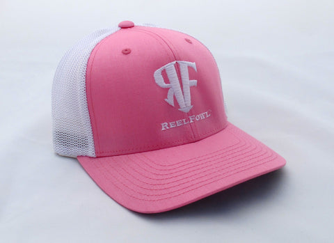 ReelFowl Flex Fit Hat - Pink/White Trucker