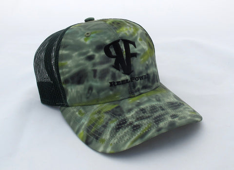 ReelFowl Snap Back Hat - Green Aqua Camo