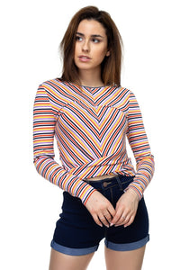 Stripe Twist Long Sleeve Shirt