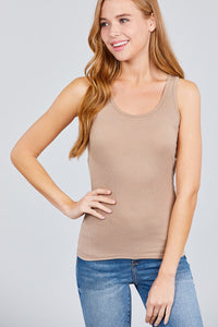 Racer Back Rib Tank Top