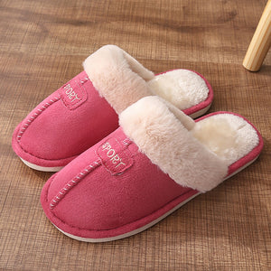 Letter pattern Cozy Slippers