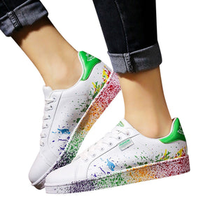 Shoes Woman Fashion Couple Colorful White Shoes Mens