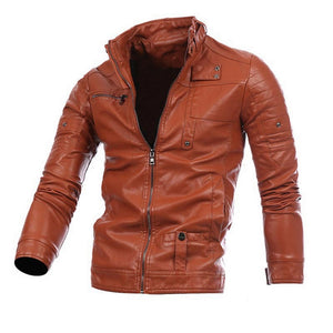 Motorcycle Men Leather Coats