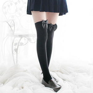 Bow Cute And Sexy  Long Knee Stockings