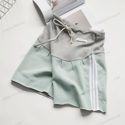 Adjustable lace-up maternity  shorts