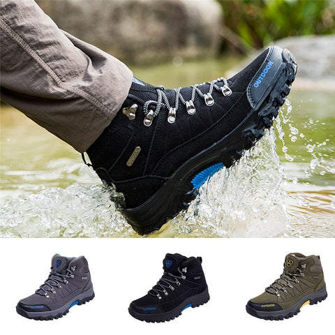 Sneakers Cotton Fabric Lace-up Hiking Shoes