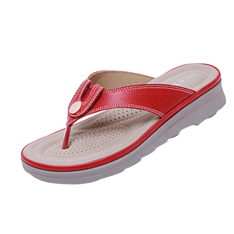 Metal Buckle Decorative Flip Flops