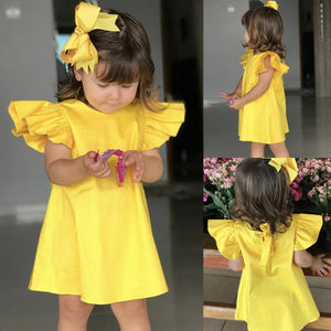 Ruffles Casual Princess Party Tutu Fold Dresses