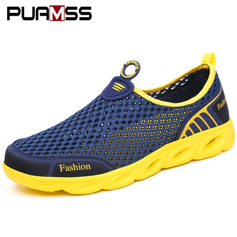 Men Casual Shoes Sneakers Fashion Light Breathable Summer Sandals Outdoor Beach Vacation Mesh Shoes Zapatos De Hombre Men Shoes