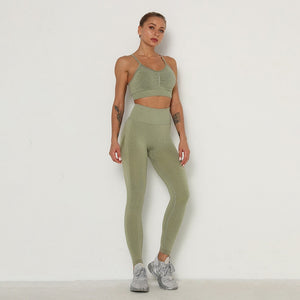 2 Piece Set Women Seamless sports Sets