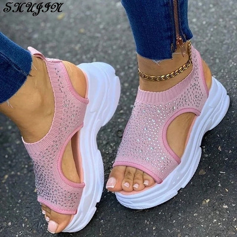 Summer Crystal Bling Sandals Women