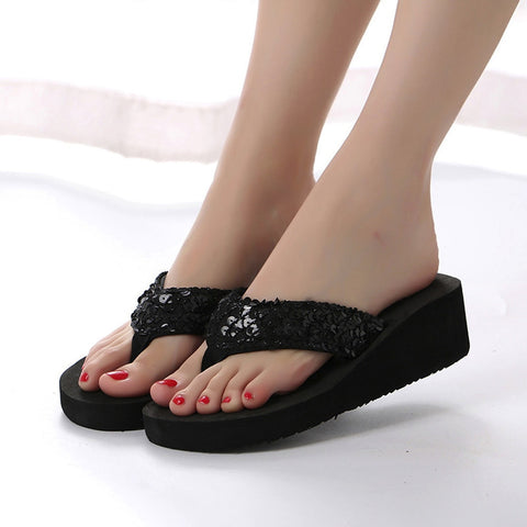 Sequins Anti-slip Flip Flops