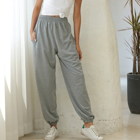 2020 Women's Sweatpants Women High Waist Loose Pants Sport Joggers Trousers Casual Cargo Women's Hip Hop Pants Streetwear#3