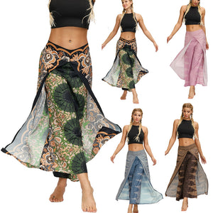 #H40 Bohemian Pants Women Casual Summer Loose Hip Hop Trousers Baggy Boho Jumpsuit Pants Baggy Pants Lady Girls Pants