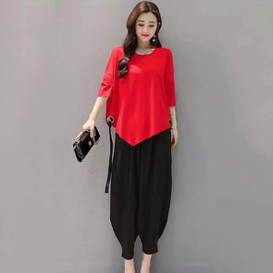 Fashion Half Sleeves Solid Irregular