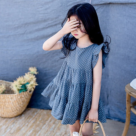 Girls' polka dot dress