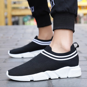 Shoes Men Sneakers Flying Weave Stripes Shoes