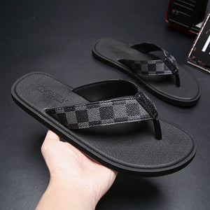 Fashion lattice Beach Flip Flops