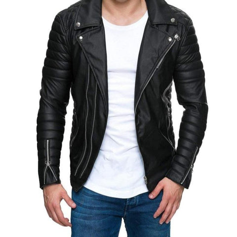 Men's Fashion Motorcycle Fit Coats