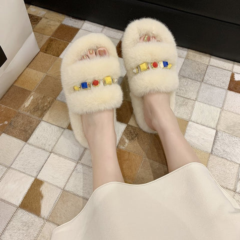 Women Furry Slippers