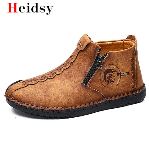 Classic Men's Loafers Leather Driving  Moccasin