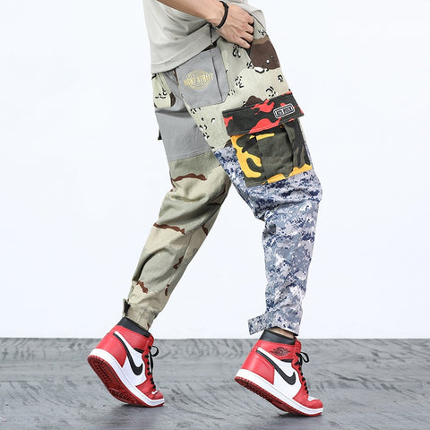 Patchwork Cargo Men's HipHop