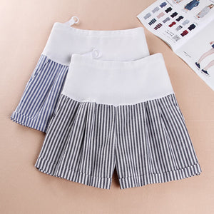 High Elastic Waist Stomach Lift Pregnant Cotton Short Pants
