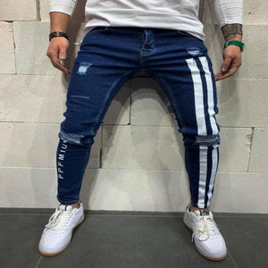 Hiphop Jeans Men Skinny Hole