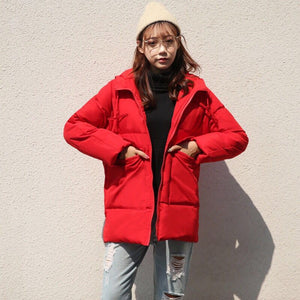Winter Cotton Parkas Oversized Hooded Puffer Jacket
