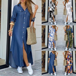 Casual Street Style Long sexy Maxi Dress