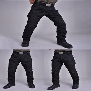 Tactical Pants Elastic Multiple Pocket