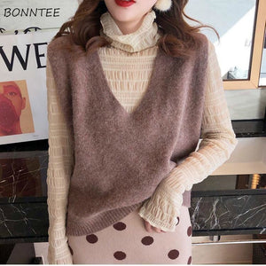 Sweater Vest Women Elegant