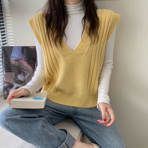 Women's Vest Sweater Elegant