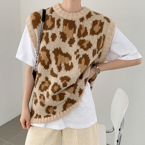 Leopard Fashion Elegant Sweater Vest