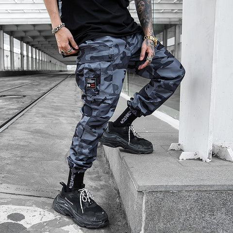 Hiphop Streetwear Men's Trim Pants