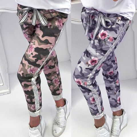 Fashion Womens Sequins Camouflage