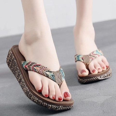 Open Toe Fashion Flip Flops