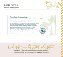Load image into Gallery viewer, Full Photo Beach Boarding Pass Save the Date