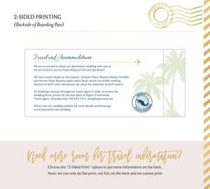 Tropical Florals Boarding Pass Save the Date