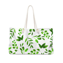 Load image into Gallery viewer, Arbonne Leaves Weekender Bag