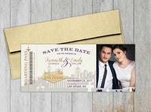 Load image into Gallery viewer, Las Vegas Boarding Pass Save the Date