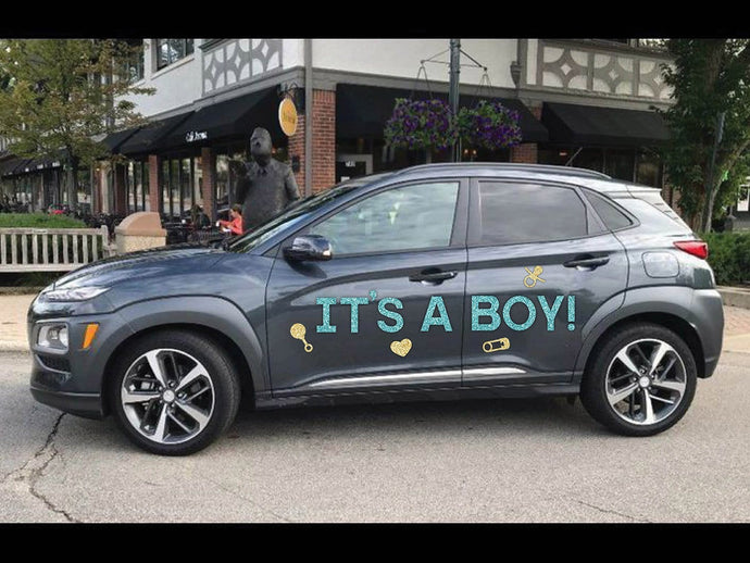 It's A Boy Magnetic Car Sign