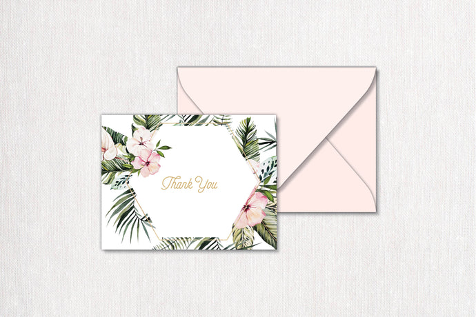 Casablanca Folded Thank You Card