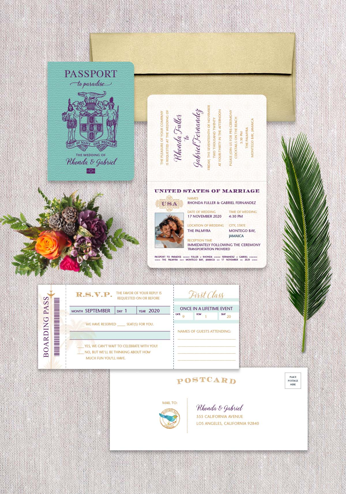 Jamaica Passport Invitation
