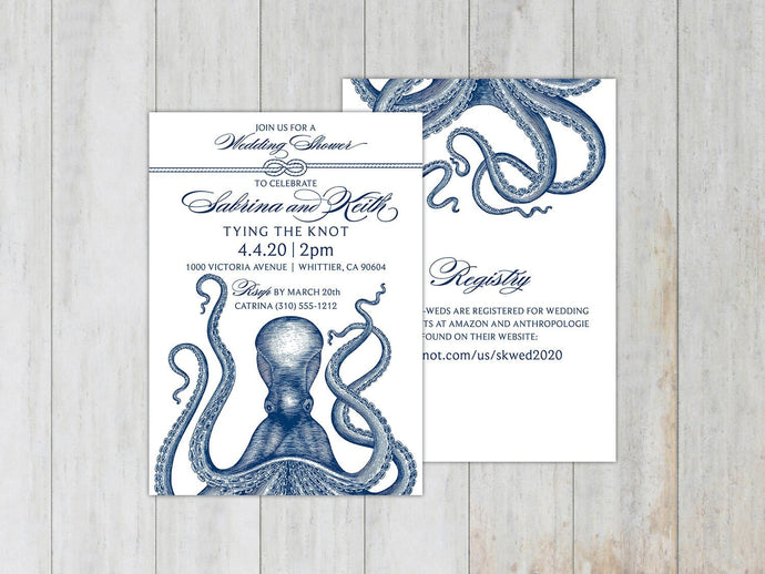 Vintage Krakken Invitation