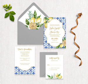 Mediterranean Summer Invitation