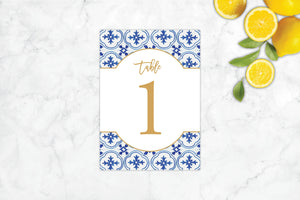 Mediterranean Summer Table Number